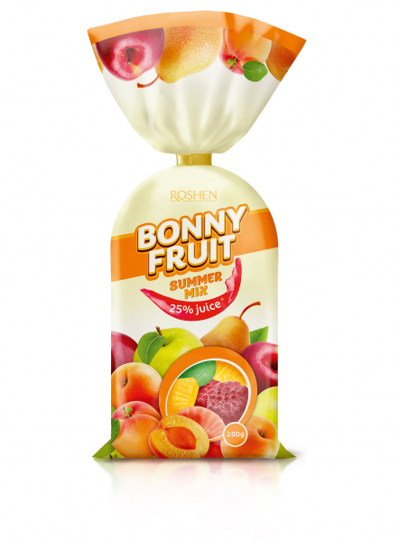 Roshen Bonny Fruit- Summer mix 200g